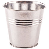 Shiny Silver Flower Pot